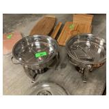 2PC LIDDED CHAFFERS / CHAFFING DISHES