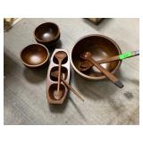 LARGE LOT OF WOOD KITCHEN ITEMS MORE