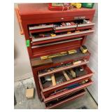 CRAFTSMAN RED ROLLING TOOL BOX W TONS OF TOOLS