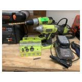 LARGE LOT OF RYOBI POWER TOOLS MORE