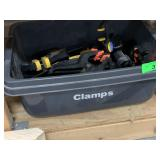 LARGE BIN OF CLAMPS