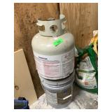 PROPANE TANK AND PAINT BUCKET
