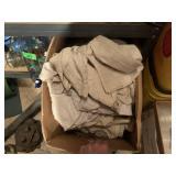 BIX BOX OF LINENS / DROP CLOTHS