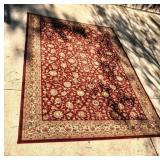 VERY LARGE RED & GOLD AREA RUG