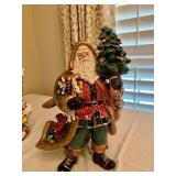 RARE Fitz and Floyd Pine Santa Claus