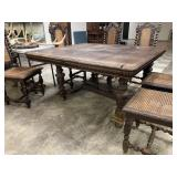 STUNNING JACOBEAN STYLE ANTIQUE ENGLISH TABLE