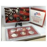 2005 US MINT SILVER PROOF COIN SET