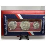 1976 RED ENV 3 COIN SILVER BICENTENNIAL SET