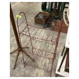 RED METAL WIRE RACK