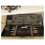 FANTASTIC COMPOUND BOW W CASE AND ARROWS