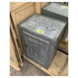 VTG GALVANIZED STEEL BOX W SHELVES