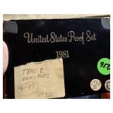 1981 US MINT PROOF SET TYPE II
