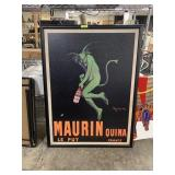 LARGE MAURIN QUINA FRAMED ADVERTISING PRINT