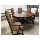 LARGE ROUND DINING TABLE OLD WORLD STYLE
