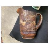 VTG IMPERIAL SLAG GLASS HANDLED WINDMILL PITCHER