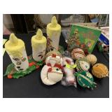 LARGE LOT OF VTG CHRISTMAS AND ORNAMENTS