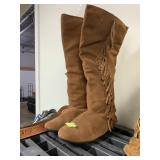 2 PAIRS FRINGY BOOTS SUPER CUTE