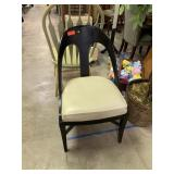 BLACK LACQUER ARCHED BACK ACCENT CHAIR