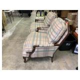 FAIRFIELD BERGERE WOOD / UPHOLSTERED ARM CHAIR