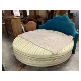 LARGE ROUND SHAPED BED W PREOWNED MATTRESS