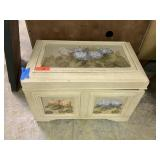 VTG TRUNK / CHEST HANDPAINTED HYDRANGEAS