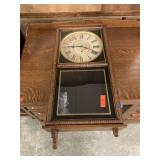 ATQ WATERBURY WALL CLOCK (MINOR TRIM DMG) HAS PEND