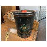 VTG HAND PAINTED WASTE BASKET