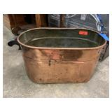 ANTIQUE COPPER BOILER / WASH TUB / MORE