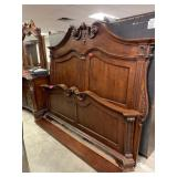 LARGE KING BED W RAILS