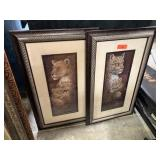 2PC JUNGLE CATS THEMED WALL DECOR