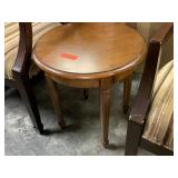 ROUND ACCENT WOOD TABLE