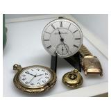 LOT OF MISC POCKET WATCHES / MORE