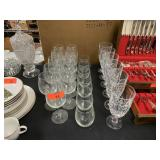 LOT OF MISC CRYSTAL AND GLASSWARE