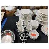 LOT OF WHITE DISHES