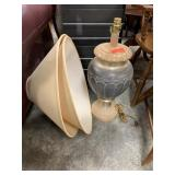 LARGE DECORATIVE LAMP W SHADES