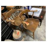 2PC MAPLE ARM CHAIRS