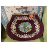 VTG NEEDLEPOINT LARGE CLUTCH PURSE