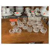 LARGE LOT OF CRYSTAL SALT CELLARS