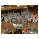 LARGE LOT OF GORHAM CRYSTAL / GLASSWARE
