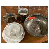 LOT OF MISC SILVERPLATE CHILDS FEEDING SET MORE