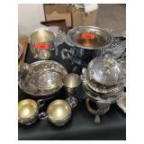 LARGE LOT OF SILVERPLATE (NOT ICE BUCKET)