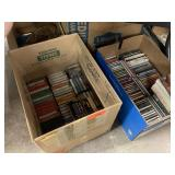 LARGE LOT OF CDS AND CASSETTES