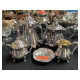CHIPPENDALE STYLE TEA AND COFFEE SERVICE