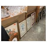 VERY LARGE LOT OF FRAMED WALL ART