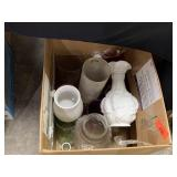 BOX OF MISC / VASES / MORE