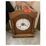 VTG WOOD WALL CLOCK