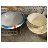 2PC WASH BASIN / BOWL / PLATTER