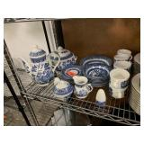 LARGE LOT OF BLUE WILLOW CHINA