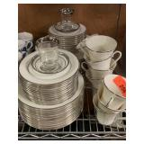 LARGE LOT OF PLATINUM RIMMED GORHAM CHINA