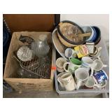 LARGE LOT OF KITCHEN / CUPS AND MORE